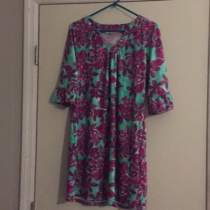 Aryeh dress, size large, purple and mint green